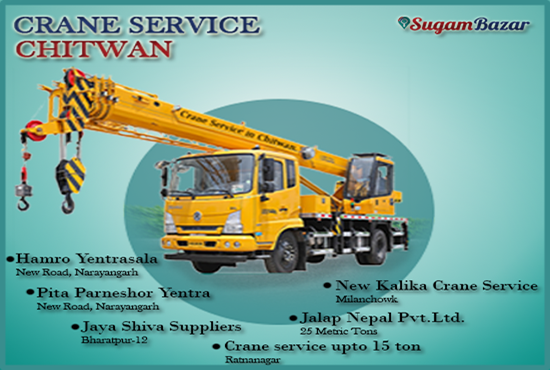 Crane Service in  Chitwan.