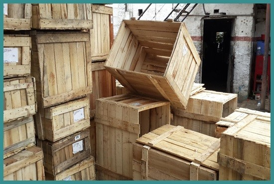 Used wooden Box