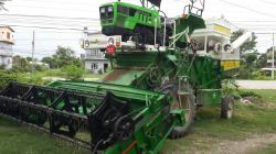 Tractor Mounted Crop Harvester